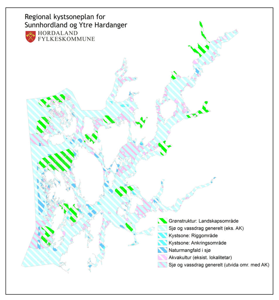 Plankart over regionalplan
